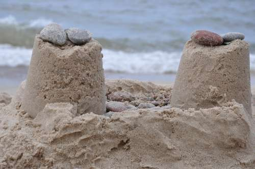 Beach Sand Grandmother Of Sand Sea Pebbles Summer