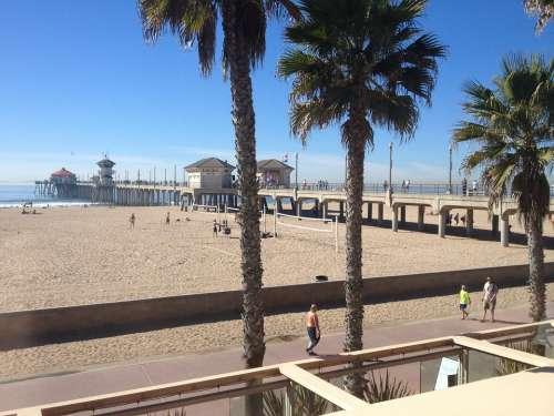 Beach Pier Huntington Beach California Coast