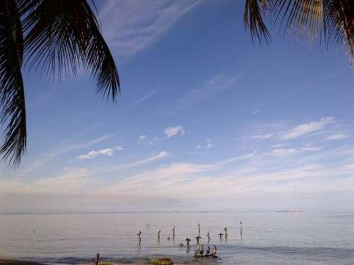 Beach Sky Praia Mansa Horizon