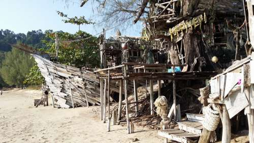 Beach Sand Sea Water Wave Vacations Thailand Bay