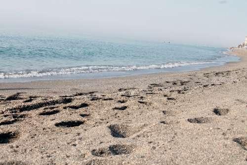 Beach Sand Sandy Sea Ocean Vacation Holiday