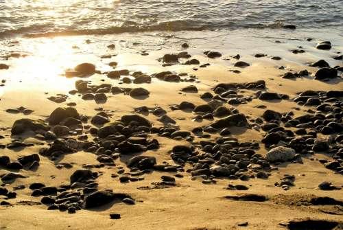 Beach Sea Sand Ocean Landscape Summer Rocks