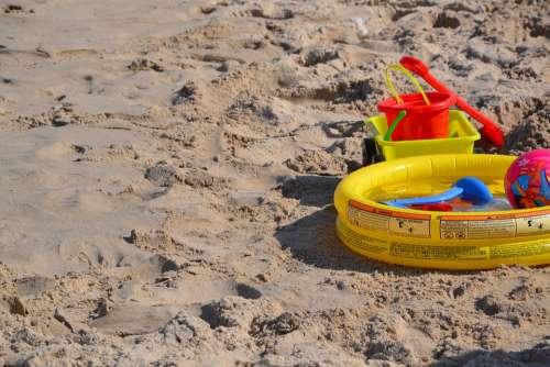 Beach The Baltic Sea Toys Children Sea Landscape