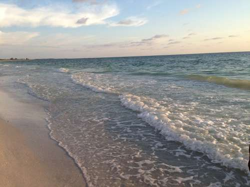 Beach Shore Water Waves Coast Travel Ocean