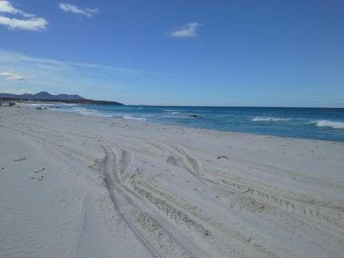 Beach Beach Sand White Summer Ocean Natural Coast