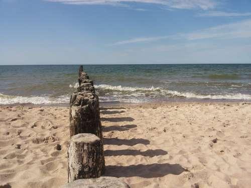 Beach Sand Water Sea The Baltic Sea