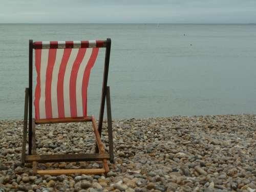 Beach Seat Relax Chair Sea Ocean View Coast