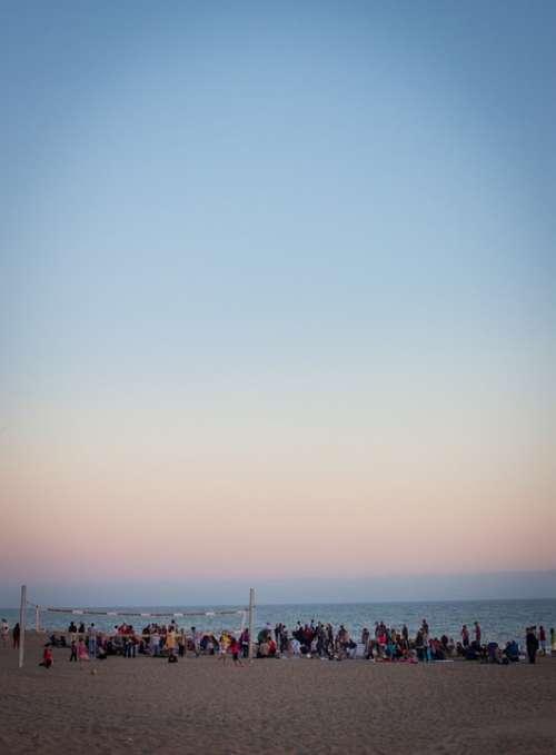 Beach Sunset Sand Sky Ocean Sea Sun Coast