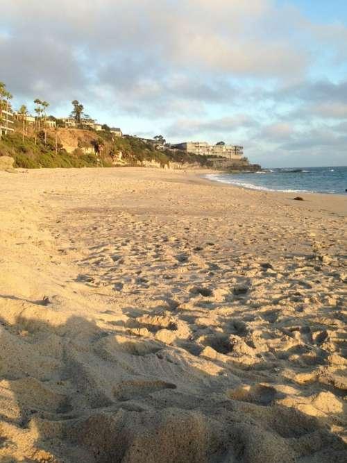 Beach Sand Water Ocean