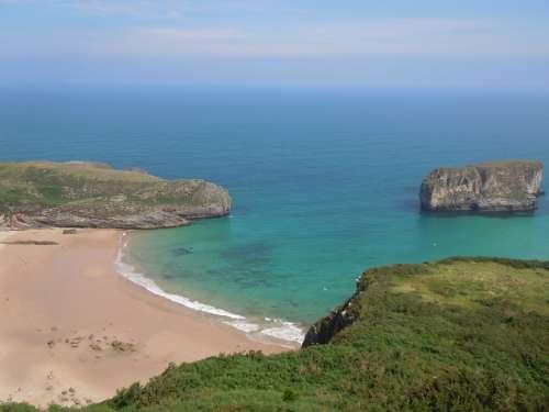 Beach Asturias Spain Sea