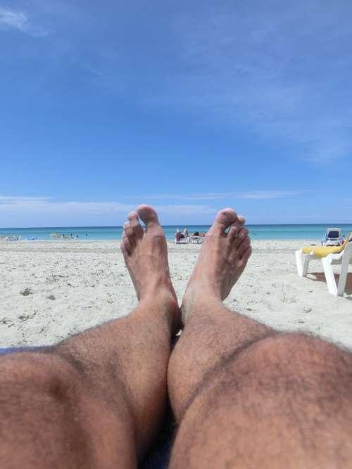 Beach Cuba Feet Relax Concerns Legs Sun
