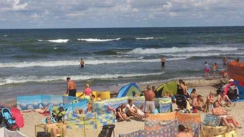Beach Sea Summer Sand The Baltic Sea Holidays