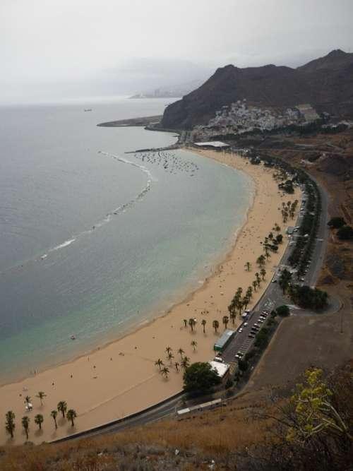 Beach Teresitas Santa Cruz Tenerife Santa Cruz
