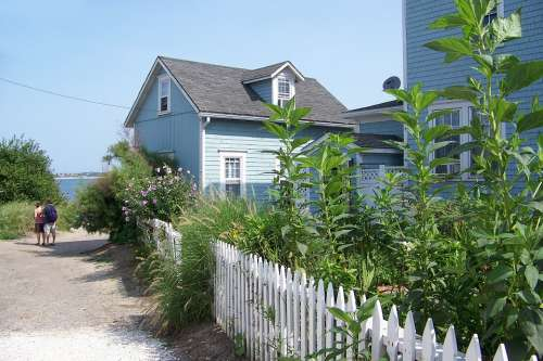 Beach House Beach Picket Fence Rhode Island