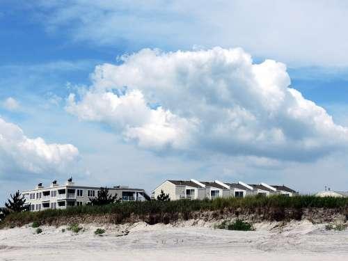 Beach Resort Houses Holiday Home Sky Clouds Beach