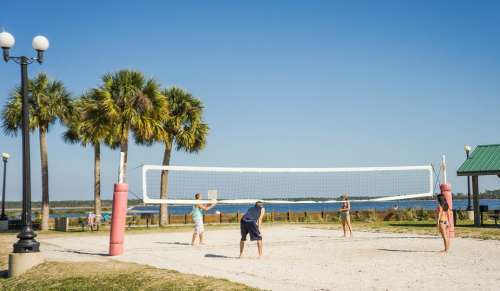 Beach Volleyball Volleyball Net Pine Island Tropical