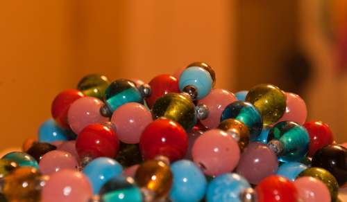 Beads Colorful Necklace Jewelry Blue Red Green