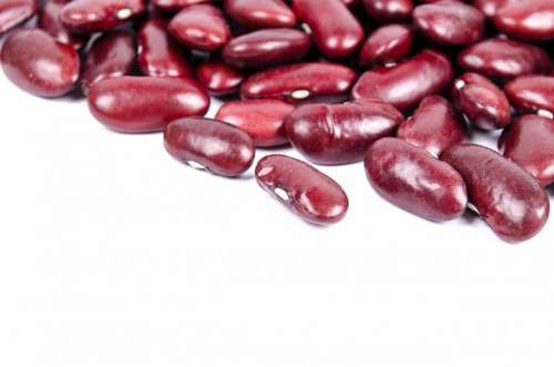 Beans Red Seed Isolated Produce Natural Delicious