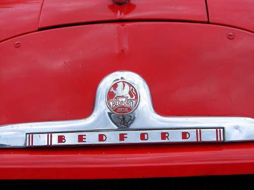 Bedford Car Old Vintage Red Fire Classic Car