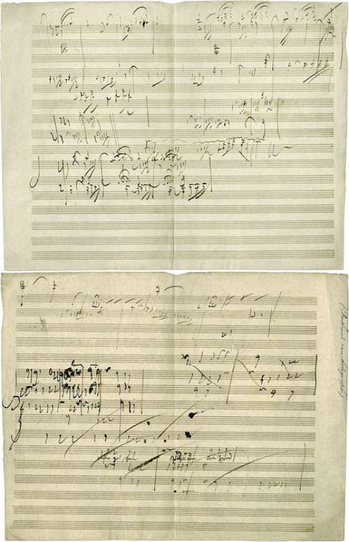 Beethoven Opus 101 Musical Score Manuscript Notes