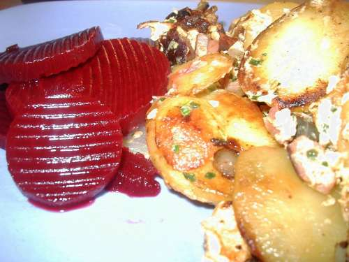 Beetroot Fried Potatoes Potatoes Lunch Substantial