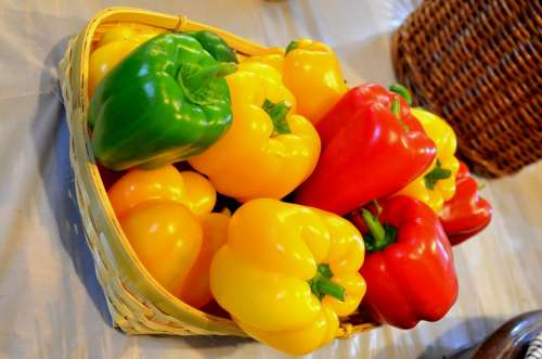 Bell Peppers Veggies Peppers Sweet Peppers Yellow