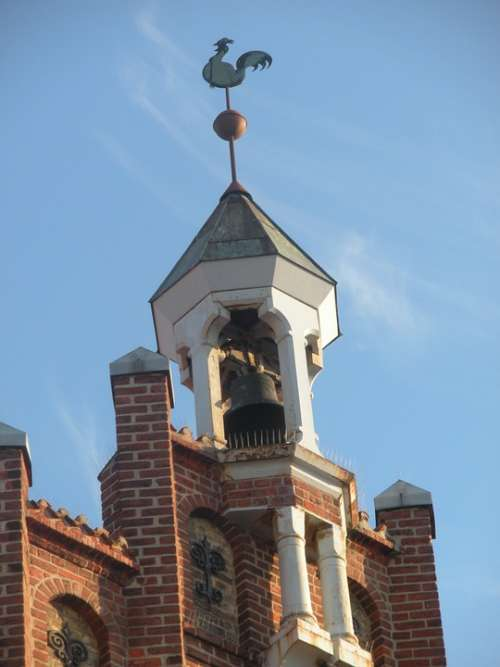 Bell Tower Weather Vane Columns Architecture