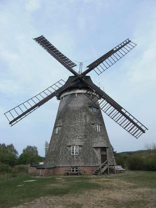 Benz Windmill Usedom Mecklenburg Western Pomerania
