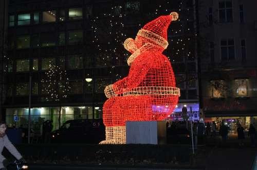 Berlin Christmas Santa Claus Winter Capital