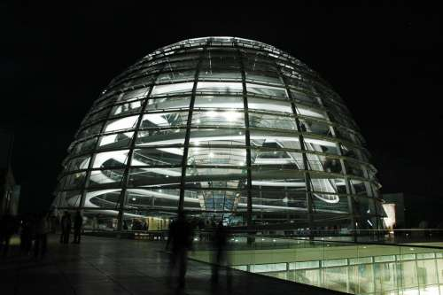 Berlin The Reichstag Building Glass Glass