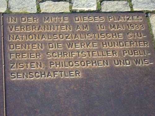 Berlin Plaque Book Burning Bebelplatz Old Library