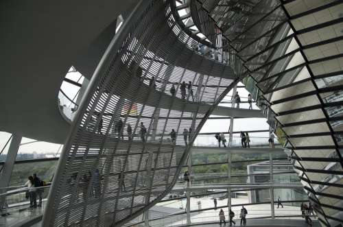 Berlin Reichstag Building Mirrors Architecture