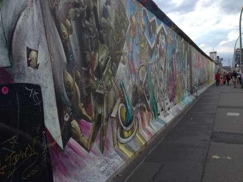 Berlin Wall Art Landmark German Monument Urban
