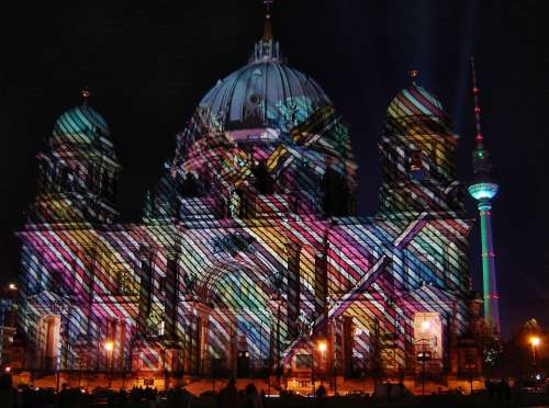 Berlin Cathedral Dom Berlin City Of Lights Night