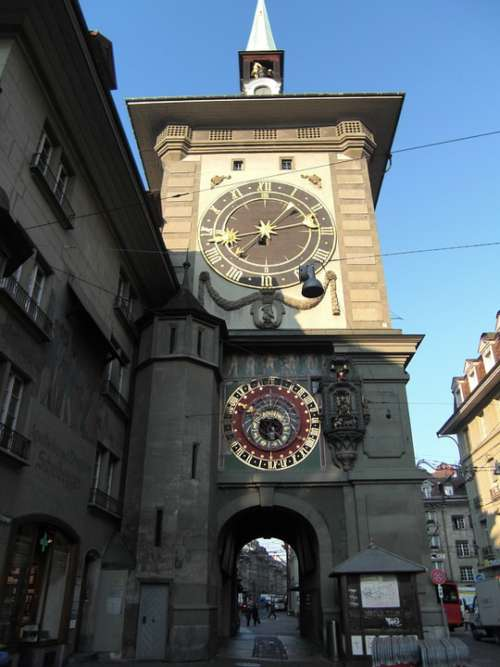 Bern Clock Tower Clock Switzerland Historic Center