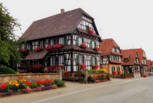 Betschdorf France Village Town Buildings