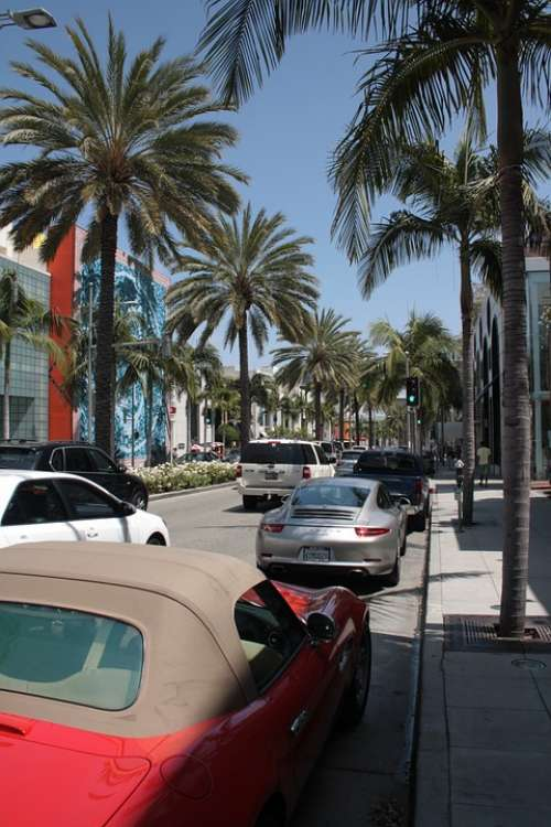 Beverly Hills Rodeo Drive California Usa