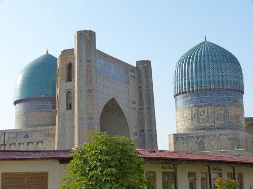 Bibi Xanom Mosque Samarkand Uzbekistan Building