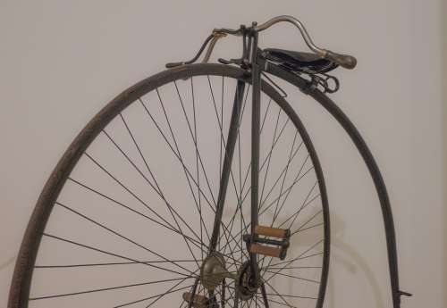 Bicycle Unicycle Old Vintage Pedals Saddle