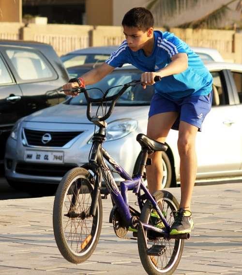 Bicycle Rider Child Boy Leisure Ride Activity