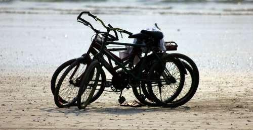 Bicycles Bikes Cycling Beach Transportation