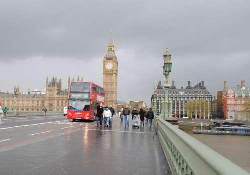 Big Ben London England Clock Street Monument