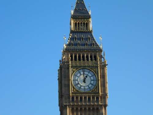 Big Ben London Clock England Historic Buildings