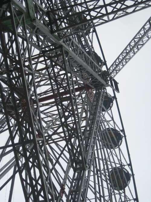 Big Wheel Steel Swing Metal Sky