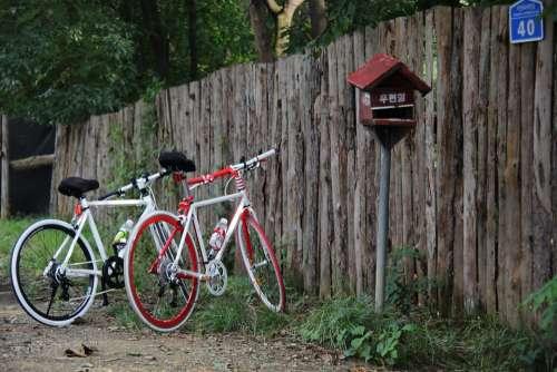 Bike Mail Box Wood Hiking Exercise