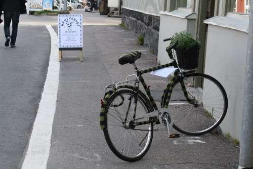 Bike Wheel Road City Side Of The Road