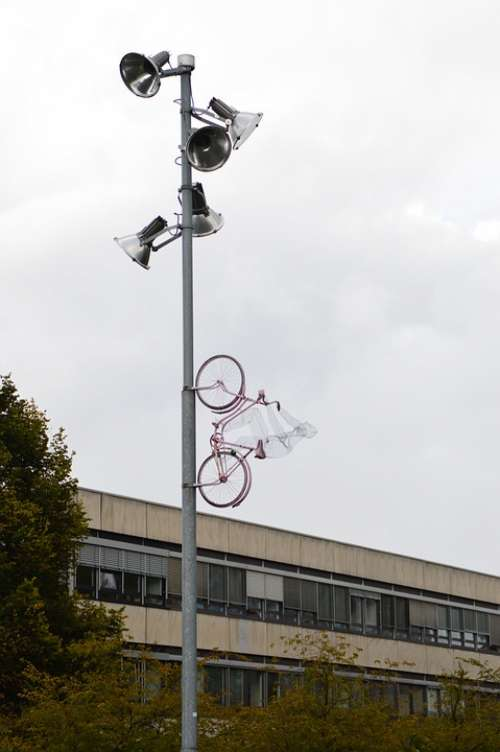 Bike Art Sky Pink Göttingen Modern Art