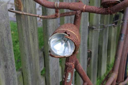 Bike Lamp Rust Wheel Cycling Bicycle Lamp