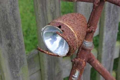 Bike Lamp Rust Wheel Cycling Bicycle Lamp