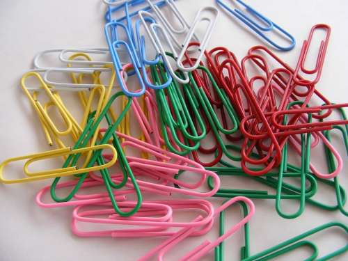 Binder Clips Colored Multi Office Paper
